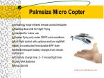 palmsize micro copter