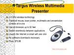 targus wireless multimedia presenter