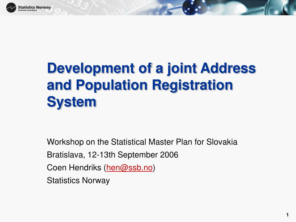development of a joint address and population registration system l.