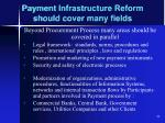 payment infrastructure reform should cover many fields