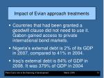 impact of evian approach treatments