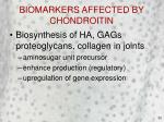 biomarkers affected by chondroitin