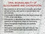 oral bioavailability of glucosamine and chondroitin