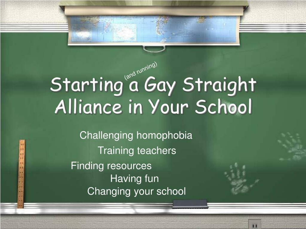 starting a gay straight alliance in your school l.