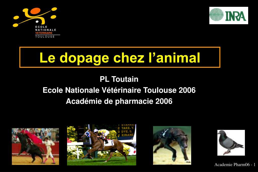 le dopage chez l animal l.