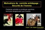 motivations du contr le antidopage s curit de l homme