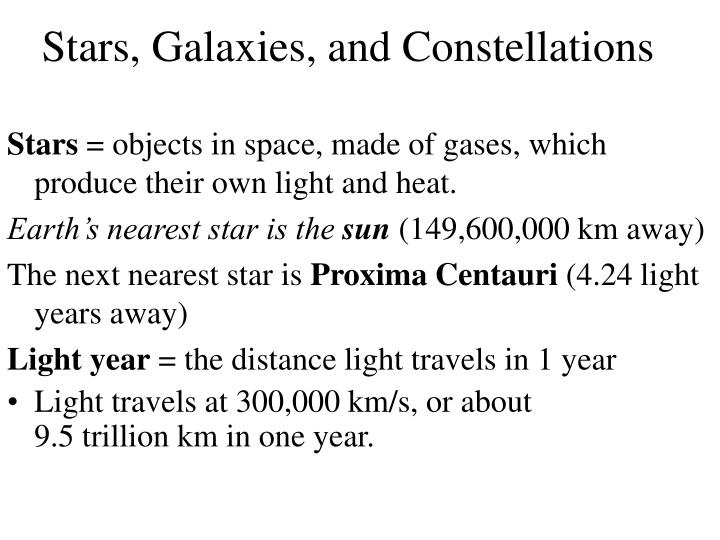 stars galaxies and constellations n.