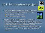 i public investment projects