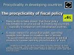 procyclicality in developing countries51