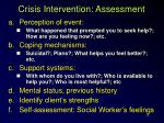 crisis intervention assessment