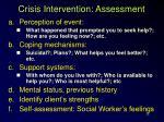 crisis intervention assessment