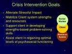 crisis intervention goals