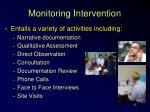 monitoring intervention45