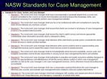 nasw standards for case management
