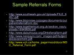 sample referrals forms
