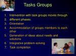 tasks groups