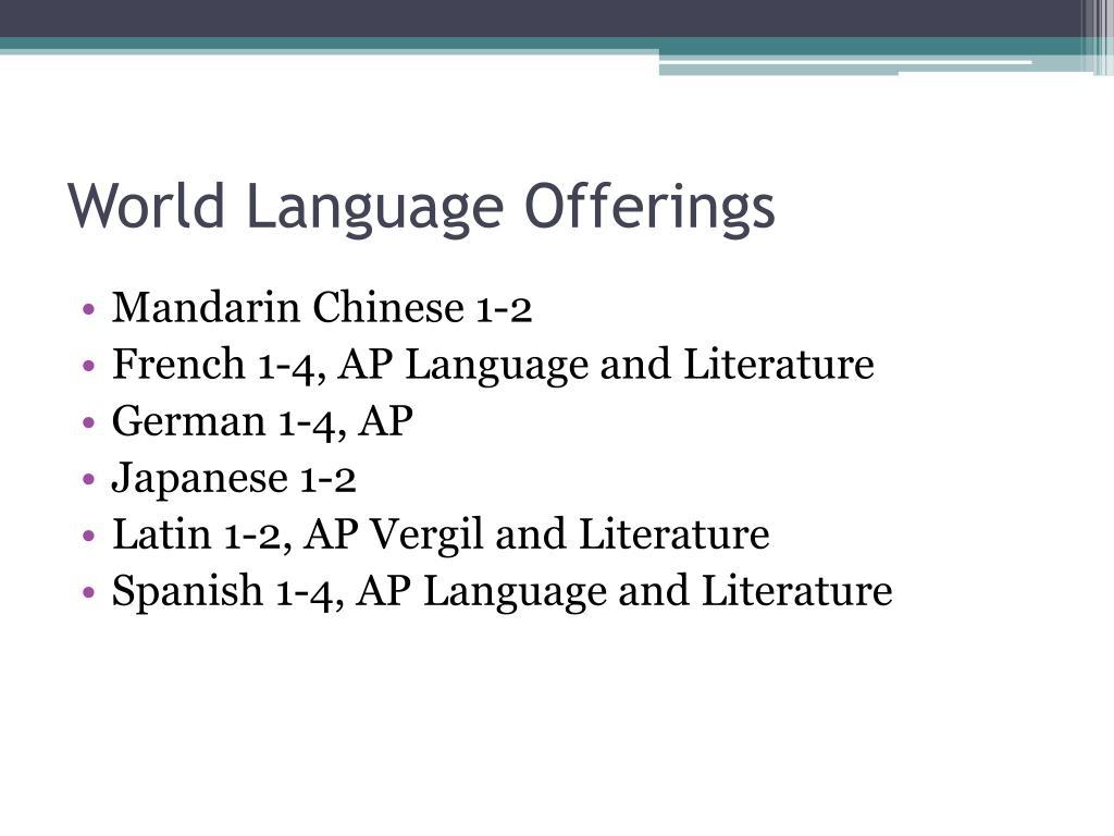 World Language Offerings