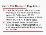germ cell research regulation26