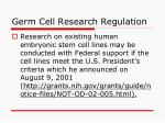 germ cell research regulation27