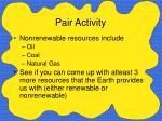 pair activity