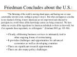 friedman concludes about the u s