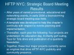 hftp nyc strategic board meeting results