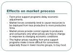 effects on market process
