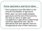 farm operators and farm labor