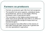 farmers as producers