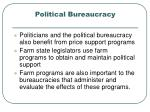 political bureaucracy