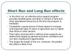 short run and long run effects