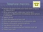 telephone manners