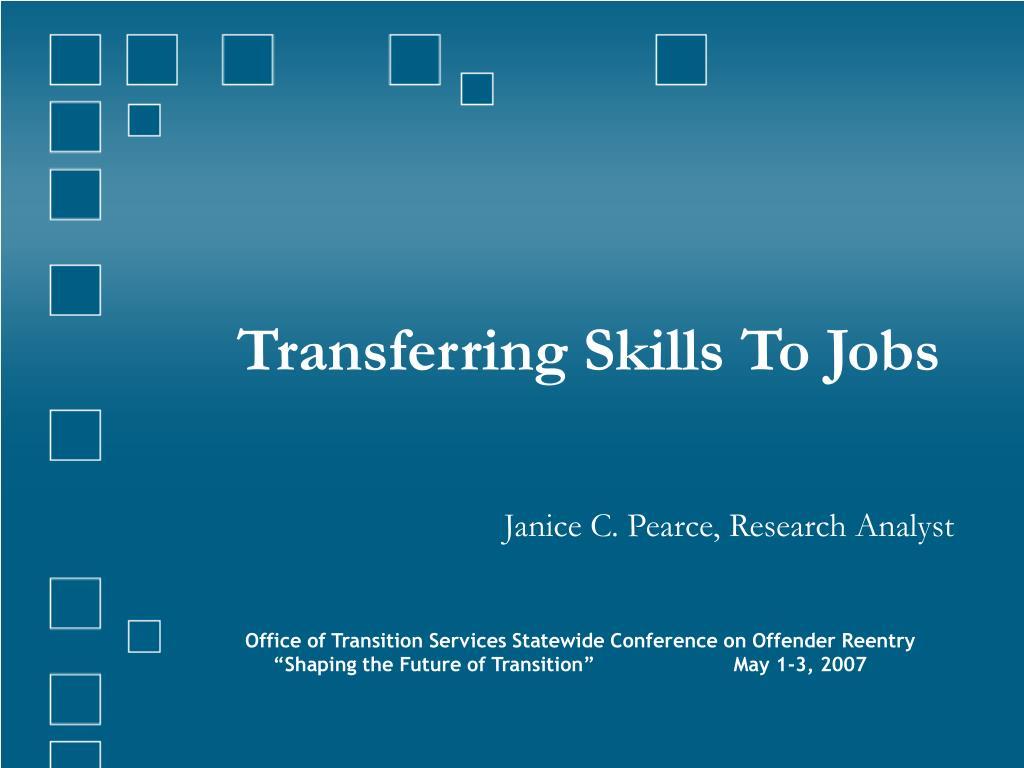 transferring skills to jobs l.