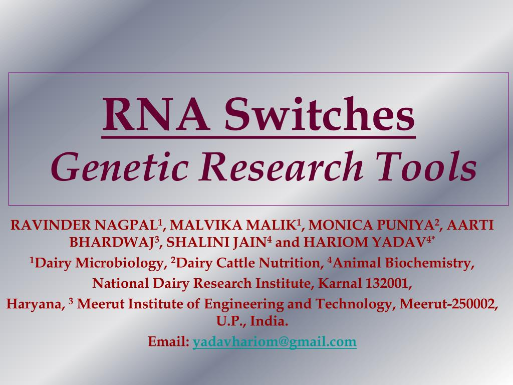 rna switches genetic research tools l.