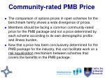 community rated pmb price