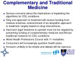 complementary and traditional medicine