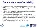 conclusions on affordability