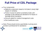 full price of cdl package