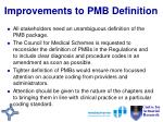 improvements to pmb definition