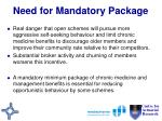 need for mandatory package48