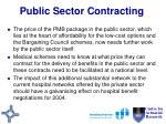 public sector contracting