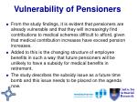 vulnerability of pensioners