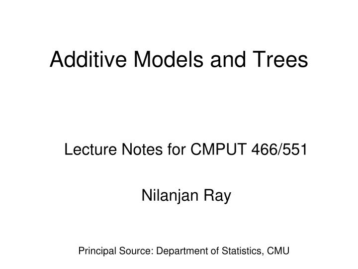 additive models and trees n.