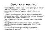geography teaching