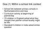 goa 1 within a school link context