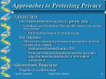 approaches to protecting privacy