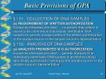 basic provisions of gpa