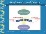 bionformatics and privacy