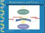 bionformatics and privacy
