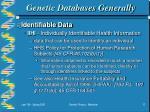 genetic databases generally17